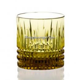 Хрустальный стакан для виски рис. произвольный цв.синий