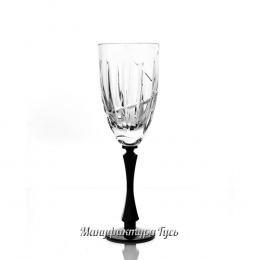 """Хрустальный набор из 6 хрустальных бокалов для белого вина """"Вертикаль"""""""