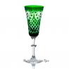 Хрустальный набор фужеров «Фараон» цв. зеленый с бесцветом