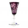 Хрустальный набор фужеров «Фараон» цв. фиолетовый с бесцветом