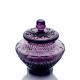 "Хрустальная ваза для сахара с крышкой ""Амели"" пр рис. фиолетовый полутон"
