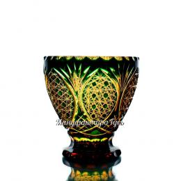 """Хрустальная ваза для стола """"Вьюга"""", янтарно-зеленый"""