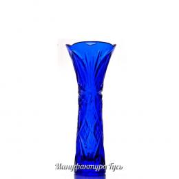 Хрустальная ваза для цветов «Элис» цв.бирюзовый