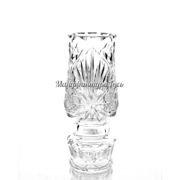 """Хрустальная ваза для цветов """"Дубрава""""  бесцветная"""