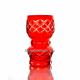 """Хрустальная ваза для цветов """"Дубрава"""" малая, цв.красный"""