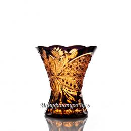 """Хрустальная ваза для цветов """"Императорская"""" малая, цв. янтарно-фиолетовый"""