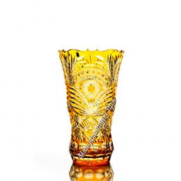 """Хрустальная ваза """"Осень"""" оранжевая"""