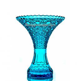 Хрустальная  ваза для цветов «Лили»  цв. бирюзовый