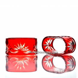 Хрустальное кольцо для салфетки (овальное)
