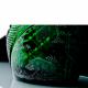 """Хрустальный штоф """"Овальный"""" рис. """"Русский камень"""" с гр. """"Охота"""", зеленый"""