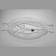 Хрустальная селедочница «С рыбкой»