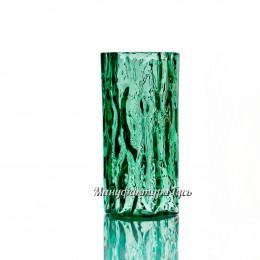 "Хрустальная ваза для цветов ""Кора""  (цвет - зеленый полутон)"