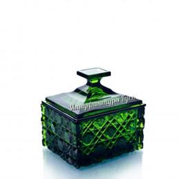 Хрустальная шкатулка зеленая