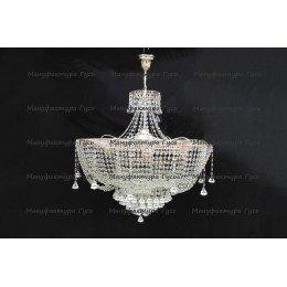 Люстра хрустальная Лотос 6 ламп Александра с подвесом конус