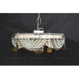 Люстра хрустальная Виктория шар 40 мм чайная