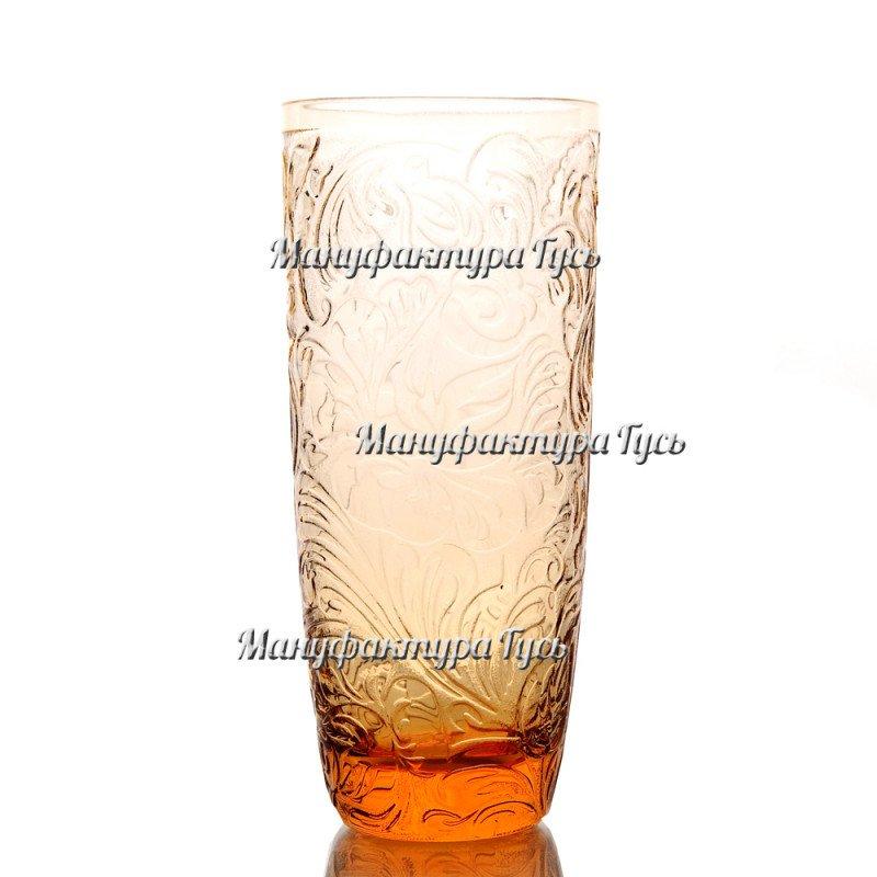 Хрустальный набор бокалов «Бутон» с пескоструйным матированием