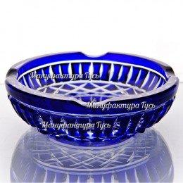 Хрустальная пепельница «Вест»,  цв.синий