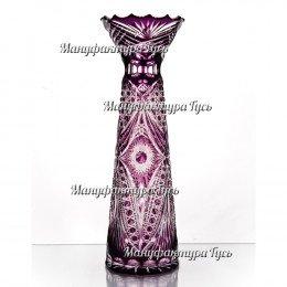 Хрустальная ваза для цветов «Игристая» большая