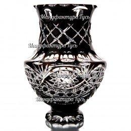 """Хрустальная ваза """"Афина"""" цв. бесцветно-черны"""