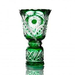 "Хрустальная ваза ""Звон"" цв.бесцветно-зеленый"
