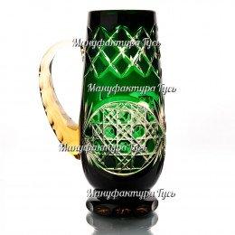 Хрустальная кружка для пива «Банзай» цв.зеленый