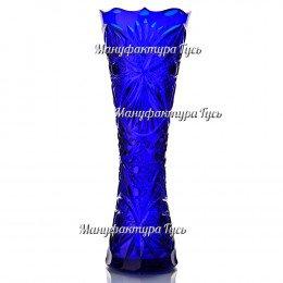 Хрустальная ваза «Гейзер» синий полутон