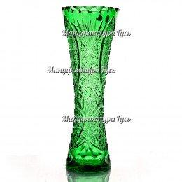 "Хрустальная ваза для цветов ""Гейзер"" цв.зеленый полутон"
