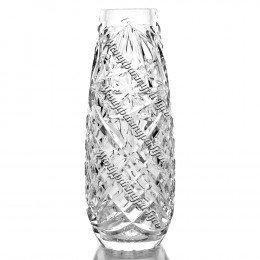 """Хрустальная ваза для цветов """"Капля"""" маленькая, безцветная"""