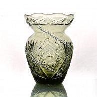 Хрустальная ваза для цветов «Маки» цв.дымчато-зеленый