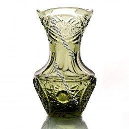 Хрустальная ваза для цветов «Крынка» цв.дымчатый