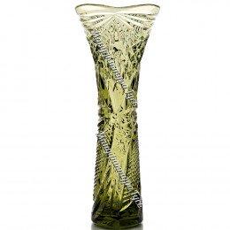 Хрустальная ваза «Элис» оливковая