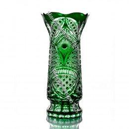 "Хрустальная ваза ""Монастырская""  большая цв.бесцветно-зеленый"