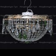 Люстра хрустальная Анжелика 3 лампы журавлик зеленый