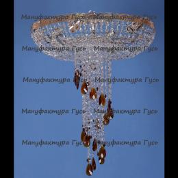 Люстра хрустальная Анжелика 6 ламп журавлик красный