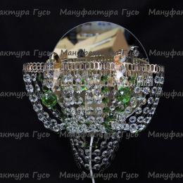 Бра хрустальная Ромашка Тюльпан зеленая № 2