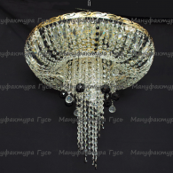Люстра хрустальная Анжелика  № 1 шар 40 мм черный