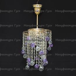 Люстра хрустальная Вектор № 4 шар фиолетовый