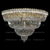 Люстра хрустальная Водопад Пластина 1000 мм 17 ламп