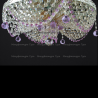 Люстра хрустальная Виктория фиолетовая