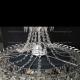Люстра хрустальная Водопад Перо с подвесом