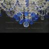 Люстра хрустальная Водопад Софья синяя