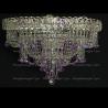 Люстра хрустальная Водопад Софья фиолетовая