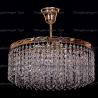 Люстра хрустальная Капель 3 лампы обтикон с подвесом