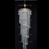 Люстра хрустальная Капель 3 лампы шар 30 мм с подвесом