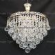 Люстра хрустальная Капель-лепесток  3 лампы шар 40 мм