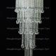 Люстра хрустальная Капель-лепесток  5 ламп шар 40 мм длинная