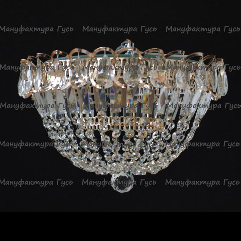 Люстра хрустальная Катерина 1 лампа купол