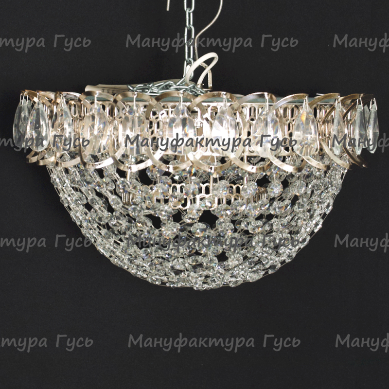 Люстра хрустальная Катерина 1 лампа сетка