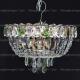 Люстра хрустальная Катерина 3 лампы зеленая