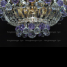Люстра хрустальная Катерина зеркальная шар фиолетовый